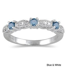 @Overstock - Round blue or black and white diamond wedding ring 10-karat white gold jewelryClick here for ring sizing guidehttp://www.overstock.com/Jewelry-Watches/10k-White-Gold-1-3ct-TDW-Blue-or-Black-Diamond-Ring/5296254/product.html?CID=214117 $304.99