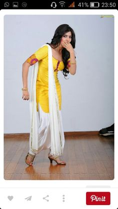 Samantha posing in Salwar Kameez and Sleeveless Dress High Definition Stills) - Image 31 Punjabi Fashion, Ethnic Fashion, Bollywood Fashion, Asian Fashion, Women's Fashion, Indian Suits, Indian Attire, Indian Dresses, Indian Wear