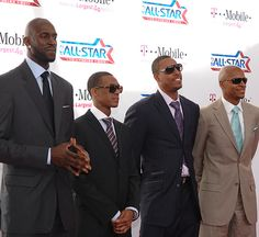 From last year's All Star game.  KG, Rondo, Pierce and Ray flashing some serious style