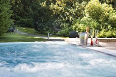 The outdoor hot tub at Armathwaite hall Country House Hotel and Spa, English Lake District - a little bit of heaven on earth