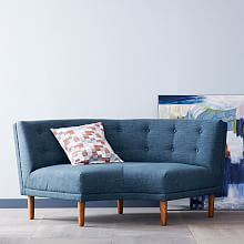 Rounded Retro Sectional | West Elm