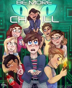 Left to right Top row: Christine row: Jenna and Jake row: Brooke and Chloe row: Micheal, Jeremy and Rich Theatre Nerds, Musical Theatre, 21 Chump Street, Be More Chill Musical, Michael Mell, Two Player Games, Chill Pill, Singing Lessons, Dear Evan Hansen