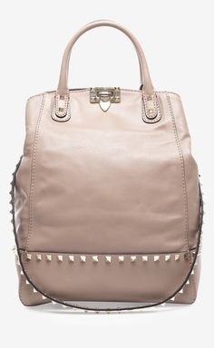 Valentino Valentino Beige New Dome Rock Stud Bag