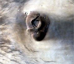 Clouds around Tharsis Tholus, one of the giants volcanoes on Mars. This image was capture MOM. Credit: ISRO.