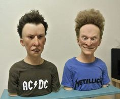 Super-Realistic Sculptures of Beavis and Butt-Head in Real Life