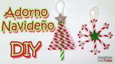 Llena tu árbol de Navidad de este año de originales adornos hemos ¡con pajitas!