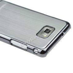 Silver-Brushed-Metal-Aluminum-Hard-Case-for-Samsung-Galaxy-S2-II-i9100...
