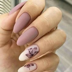 36 Perfect and Outstanding Nail Designs for Winter dark color nails; nude and sparkle nails; The post 36 Perfect and Outstanding Nail Designs for Winter dark color nails; Gel n& appeared first on Nails. Mauve Nails, Gray Nails, Violet Nails, Neutral Nails, Dark Color Nails, Nail Colors, Matte Gel Nails, Dark Pink Nails, Matte Nail Art