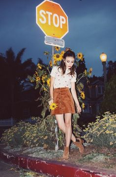 Obsessed with @ghannelius' new clothing line #GByG with @thestyleclub! Corduroy button down skirts and brown ankle booties are perfect for this fall season