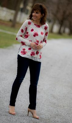 Fashion blogger, Cyndi Spivey, styling a Valentine's Day out by Lucky Brand.