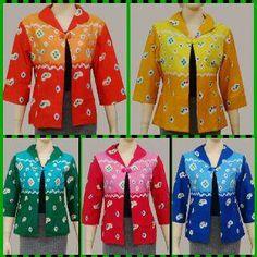 Cardigan, matrial silky traditional batik jumputan