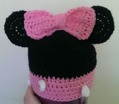 Check out this item in my Etsy shop https://www.etsy.com/listing/230465510/baby-minnie-hat-custom-size-up-to-12