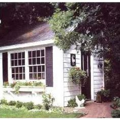 I dream about a garden shed like this.