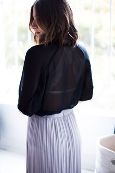 Spring's must have look- the sheer shirt! How to wear it with @thirdlove today! #MyThirdLove #sponsored