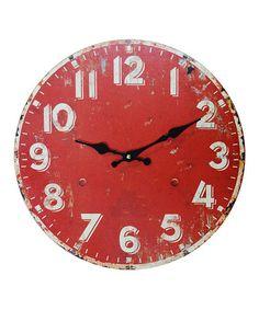 Look what I found on #zulily! Wood Wall Clock #zulilyfinds