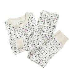 Girls' glow-in-the-dark pajama set in counting sheep : sleepwear & underwear | J.Crew