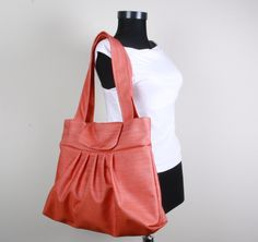 MIST  Shoulder Bag Everyday Purse Tote Bag  Orange by sineminugur, $35.00