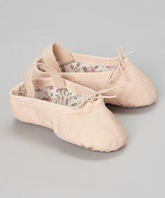 Pink Leather Ballet Slipper #zulily #zulilyfinds