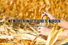 We werken niet om gezegend te worden, maar we hebben de kracht om te werken omdat we al gezegend zijn.   http://www.dagelijksebroodkruimels.nl/bijbelse-wijsheden/we-werken-niet-om-gezegend-te-worden-maar-we-hebben-de-kracht-om-te-werken-omdat-we-al-gezegend-zijn/