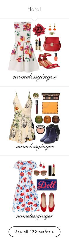 """floral"" by namelessginger ❤ liked on Polyvore featuring Mallary Marks, Solow, Gabriella Rocha, Sephora Collection, Tory Burch, Deborah Lippmann, Valentino, Palm Beach Jewelry, Laura Mercier and rag & bone"