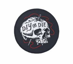 Digitally embroidered patch Merrowed border and iron on backing 5 inches in diameter
