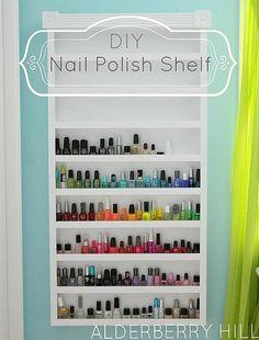 DIY:: Amazing Nail Polish Shelf