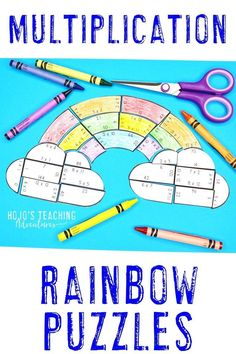 Your 3rd, 4th, and 5th grade students are going to love working on MULTIPLICATION facts with this great rainbow puzzle. You get differentiated and NO PREP options, so you can meet the needs of ALL learners. Click through to see how you can add these into your St. Patrick's Day or spring learning. Math fact fluency, centers, and review will be a breeze with this easy activity. Grab them for your third, fourth, or fifth graders today! #Rainbows #HoJoTeaches Rainbow Activities, Book Activities, Math Fact Fluency, Fluency Practice, Math Facts, Multiplication Facts, 5th Grade Classroom, Classroom Ideas, Reading Skills