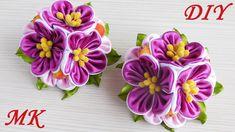 Резиночки с цветами  канзаши. МК