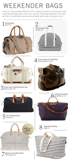 8 great weekend bags for women Mk Bags, Travel Tote Bags, Travel Handbags, 9950e32b9b