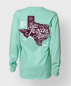 Texas A&M long sleeve t-shirt. #AggieGifts #AggieStyle