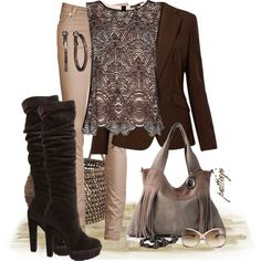 Chocolate Lace, created by rockreborn on Polyvore