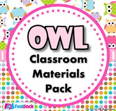 FlapJack Educational Resources: Owl theme