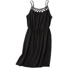 Spaghetti Strap Black Dress