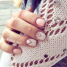 Nail art•Pastel Pink•White