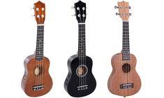 Wooden Ukulele with Four Nylon Strings