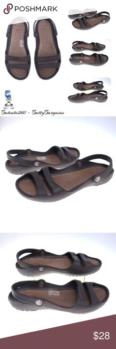 48c7fb85f3b0 CROCS Cleo II sz 7 Womens Brown Like New Sandals Actual Item Pictured  Women s Size 7