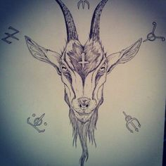 adafc8fbfccc0 pagan goat head by DAZAMIR13 Satanic Tattoos, Satanic Art, Head Tattoos,  Skull Tattoos