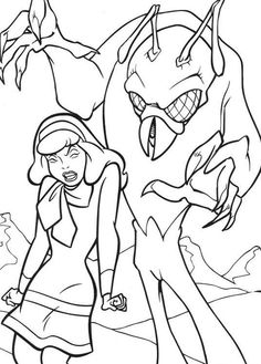 scooby doo coloring pages free download and print scooby doo coloring pages daphne and monster