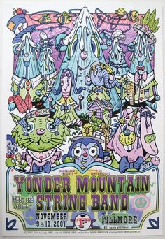 Yonder Mountain String Band Poster 2001 Concert