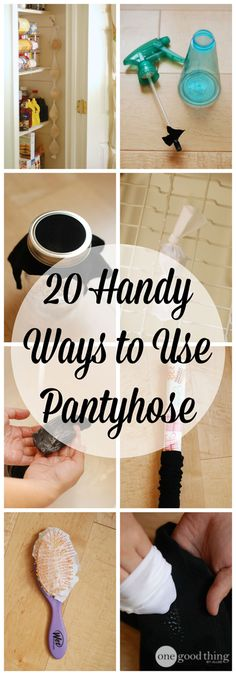 A pair of tights or pantyhose only last an average of two months before they tear (and if you're me - far less than that!) But you don't have to ditch those nylons!  Check out our list of 20 ways to give them new life!