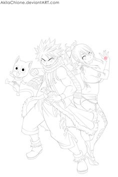 fairy tail lucy and natsu coloring pages - Clip Art Library | 354x236
