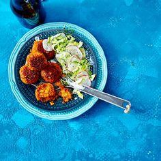 Rote-Linsen-Frikadellen Rezept | LECKER Tandoori Chicken, Feel Good, Low Carb, Lunch, Beef, Vegan, Cooking, Ethnic Recipes, Food
