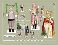 Santa Claus, deck the halls by C David Claudon Auf davidclaudon.imagekind.com http://www.pinterest.com/wjly/holidays-in-paper/