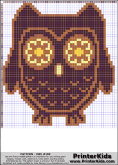 Owl #65 - Animals - 188 pattern