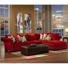 Tara Traditional Styled Sectional Sofa with with Nail Head Trim and Chaise by Robert Michael - Fashion Furniture - Sofa Sectional Fresno, Madera, Clovis