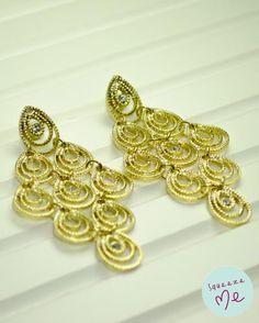Brinco Cascate Dourada - R$ 49,90 - Disponível na nossa loja virtual: http://bzz.ms/brincocascdour
