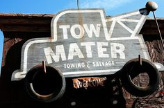 Tow Mater sign