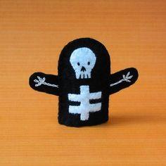 Skeleton puppet from cherylasmoth on Etsy