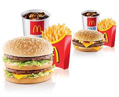 O2 and McDonald's have teamed up to offer O2 Priority Moments customers McDonald's medium Extra Value Meals for just €5.  Purchase either a Big Mac®, Quarter Pounder with Cheese, McChicken® Sandwich, Filet-O-Fish®, 6 Chicken McNuggets® with Medium Fries and Medium Drink for only €5. O Fish, Big Mac, Fries, Sandwiches, Restaurant, Cheese, In This Moment, Meals, Chicken