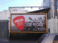 Diseño Séxtuple Vía Pública  Radio Mega 90.5 FM.   Córdoba 2012.